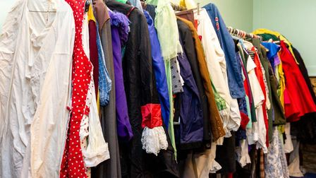 Rail of costumes donated to Thetford Players. Picture: SAC Jamie Ledger