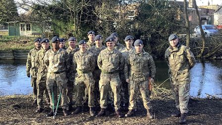 RAF Honington's 27 Sqn unit worked with Thetford Town Council and community gardening group Sex, Roc