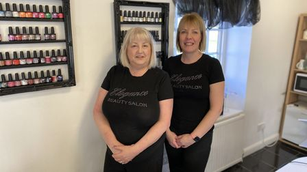 Bridget Cobb, the owner of Elegance Beauty Salon in Thetford, with her beauty therpist Kerri Howes.