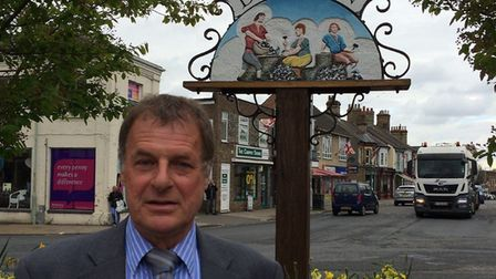Councillor Phil Whittam says Brandon needs a blanket ban on HGV's coming through the town. Photo: Ph
