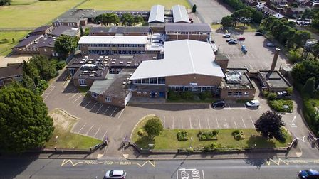 An aerial shot of the The Charles Burrell Centre. Photo: courtesy of Terry Jermy