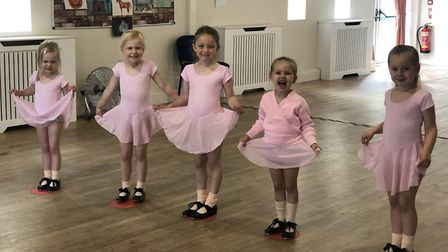 Students of Ashley Dance Company, taking dance classes at the Abbey Neighbourhood Centre in Thetford