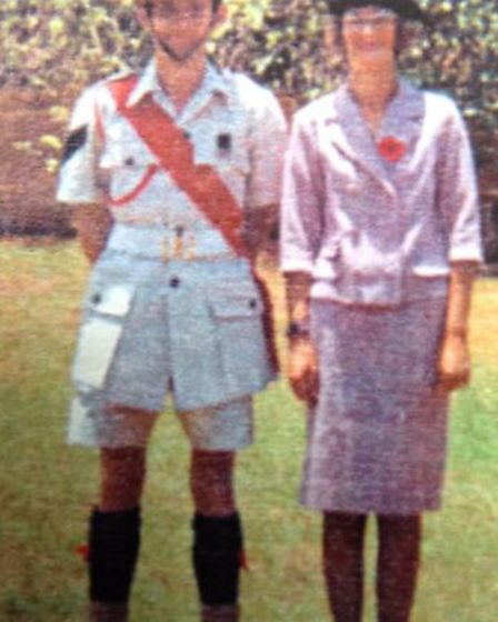 Steve Scott, in 1970, Milawi, president parade with his wife. Photo: Scotty's Little Soldiers