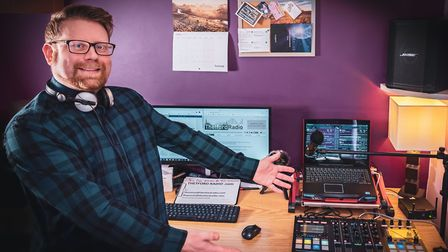Neil Garrod has launched Thetford Radio to connect the community over the airwaves. Photo: Neil Garr