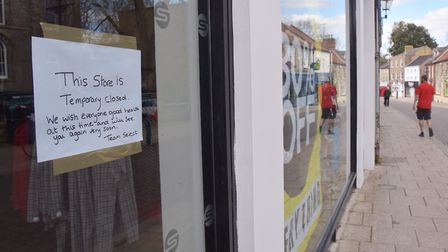 Thetford high street during the second week of lockdown in the UKByline: Sonya Duncan(C) Archant 202