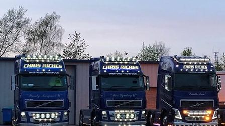 Chris Riches haulage company will be spreading cheer around Thetford during the lockdown. Photo: Chr