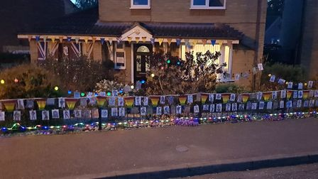 Lisa Shadwell has transformed the outside of her home to spread some cheer in Thetford. Photo: Lisa