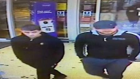 Police are appealing for help to identify two men following a theft in Thetford. Photo: Norfolk Poli
