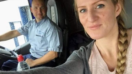 Chris Riches and his wife Liana Riches. They are part of a family-run haulage company in Thetford. P