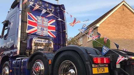 Chris Riches from Chris Riches haulage company will be helping residents celebrate VE day in Thetfor