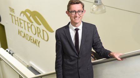 Dan Carter, principal of Thetford Academy, is celebrating after the school was rated as ''good' for