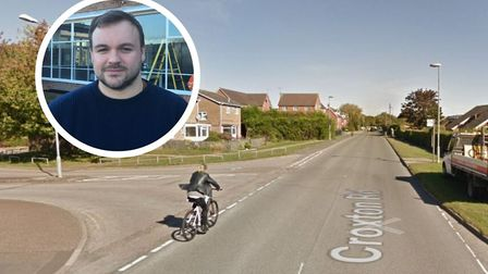 Thetford Town Councillor Terry Jermy is concerned about the safety of a new cycle route along Croxto