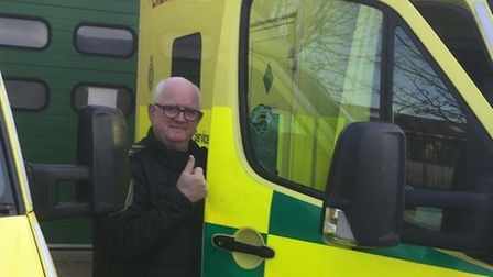 Alan Robertson, 61, was greeted with flashing lights, music and a roaring round of applause as his n