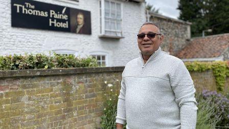 Gez Chetal, owner of The Thomas Paine Hotel, is set to open his restaurant from July 4 - pre-booked