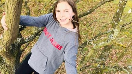 Chloe Preston from Thetford has told of her heartbreak after a tree she planted nine years ago has b