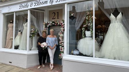 Bernice Rhodes and Jane Richardson from Bride & Bloom of Brandon - the town's new bridal shop. Photo