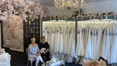 Bernice Rhodes (right) and Jane Richardson (left) from Bride & Bloom of Brandon - the town's new bri