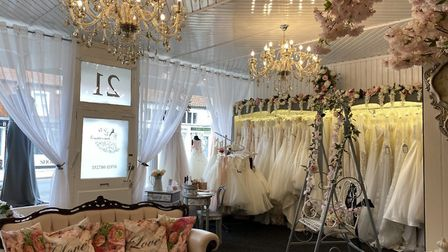 Bride & Bloom of Brandon - the town's new bridal shop. Photo: Emily Thomson