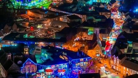 Thetford may have a virtual Christmas lights switch-on in 2020. Picture: Neil James Drone Photos & V