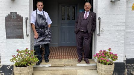 Tour chef to the stars, Tony Liddell (left), is now in the kitchen at the Thomas Paine Hotel in Thet