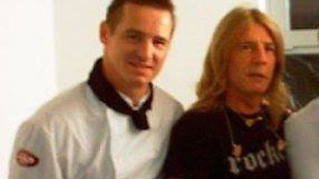 Tour chef to the stars Tony Liddel (left) with Rick Parfitt (second from left) from Status Quo. Phot