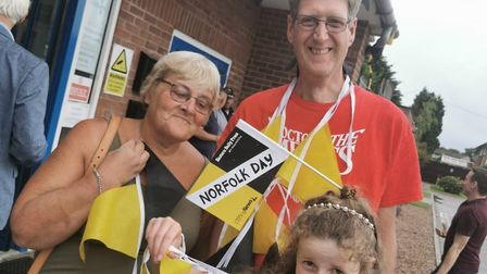 Local volunteers enjoying the Norfolk Day event at the Charles Burrell Centre in Thetford on Saturda