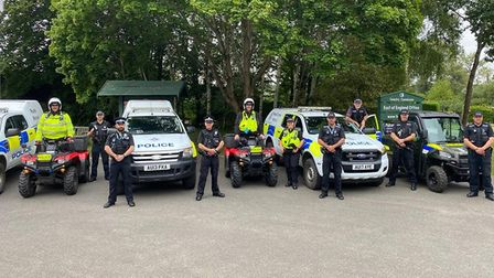 South Breckland Safer Neighbourhood Team and the Suffolk Rural Crime Team alongside members of Suffo