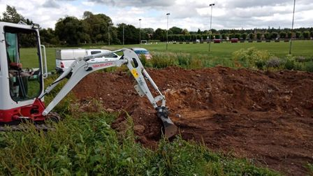 Local builders have been donating their time and equipment to help complete Brandon's new BMX track.