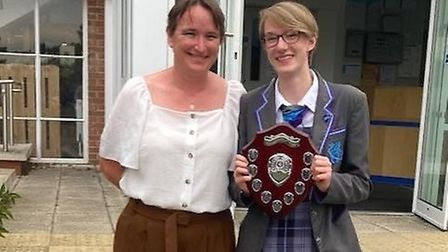 Sophie Wilson and mum Alison Wilson. Photo: Brandon and District Rotary Club
