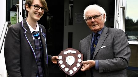 Making a difference award, Presidents Graham Lodge and Sophie Wilson. Photo: Brandon and District Ro