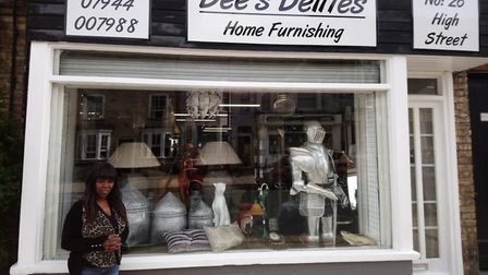 Dee Moffat, owner of Dees Delites home furnishing store on Brandon's highstreet. Photo: Dee Moffat