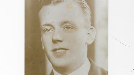 Private Norman Stevenson, a WWII soldier, from the Royal Norfolk Regiment, 5th Battalion, died in ba