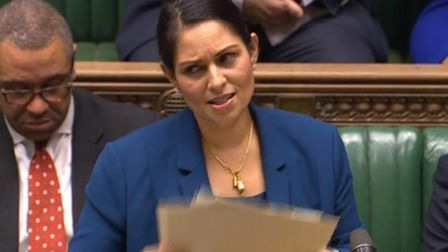 Priti Patel in the House of Commons
