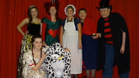 Characters from Mother Hubbard and the King's Pantaloons pantomime.