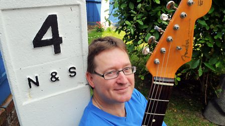 Guitar teacher Nigel Digby who wants to expands ukulele his lessons to Cromer.