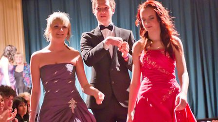 Students from last year's prom fashion show at Cromer Academy.