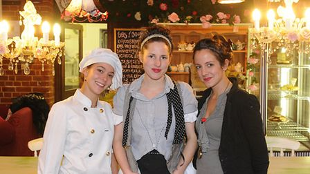 The Flavour Parlour Cafe at Alby Crafts Centre. Left to right, Patricia de la Pena, Kirsty Alston an