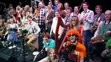 Members of the Joe Broughtons Conservatoire Folk Ensemble who are performing at this year's Folk on