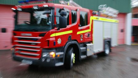 Norfolk Fire and Rescue Service officers have been called out today because of flooding.