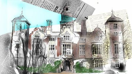 An interpretation of Blickling Hall by artist Jamie O'leary-Leeson.