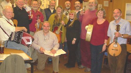 Performers at the first Cromer Folk Club. Picture: BRIAN GAUDET