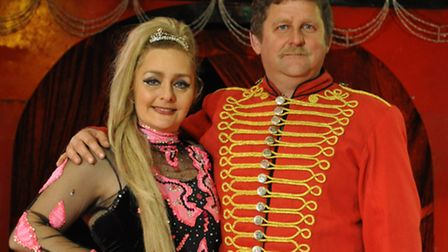 Owners and directors of Russells International Circus Rusty and Amanda Russell.