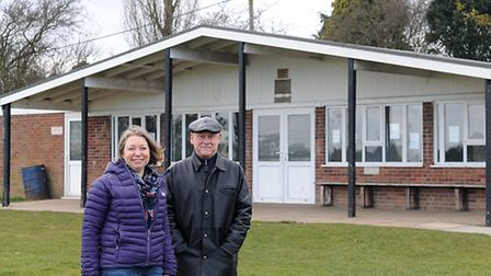 Chairman of Aylsham Recreation Ground Gerry Grimes and committee member Heather Morton at the pavili