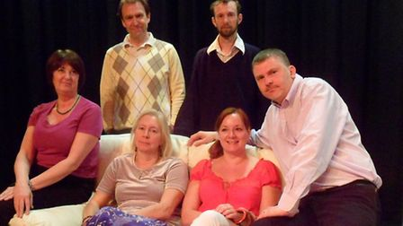 Stage Direct's cast of Absent Friends which is being staged at North Walsham's Atrium May 16-18