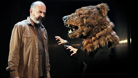 A scene from The Bear, which will be performed at Sheringham Little Theatre.