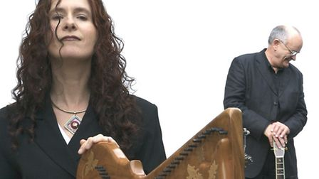Performers Marie Chathasaigh and Chris Newman.