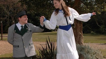 The characters of Liesl and Rolf from the musical.