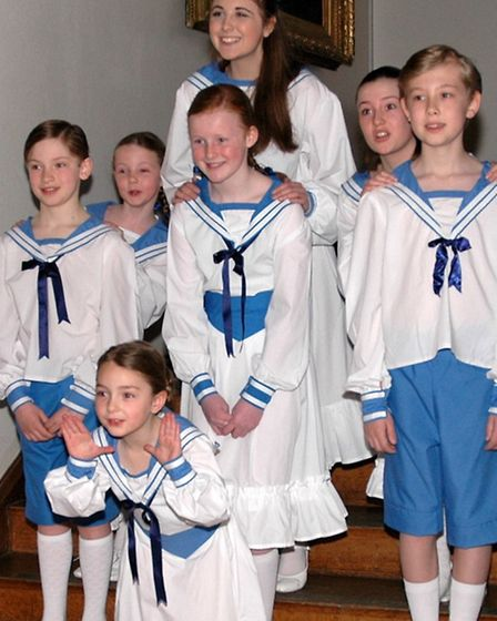 Some of the children in the Sound of Music prouction.