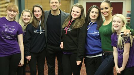 From left,Alice Woodrow,Chloe Woodhouse, Harriet Muckley,Pasha Kovalev, Becky Norfield, Kelly Such,