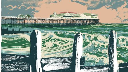 A painting of Cromer Pier.